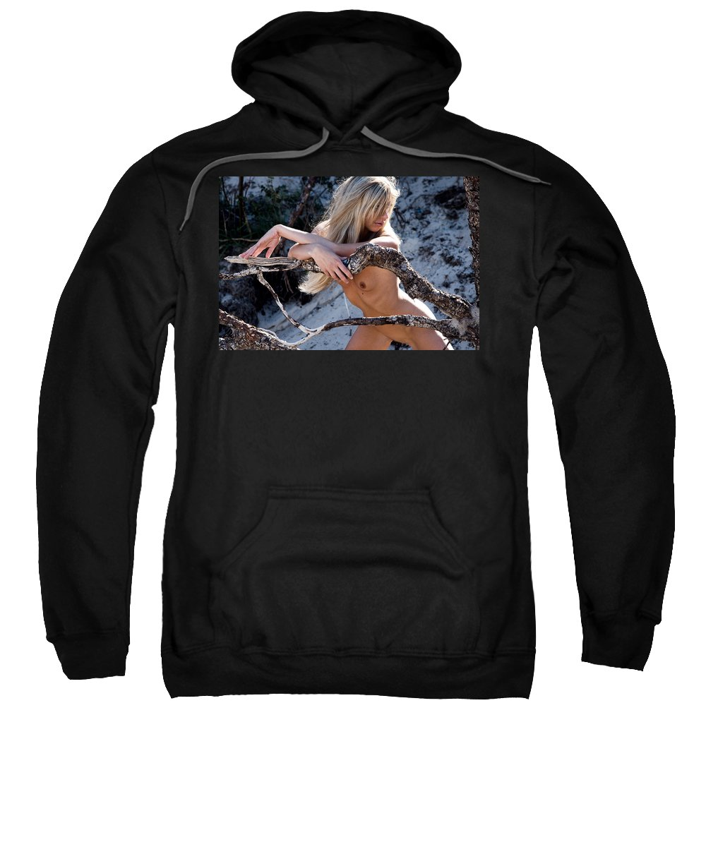 Sensual Sweatshirt featuring the photograph So Far Away by Olivier De Rycke
