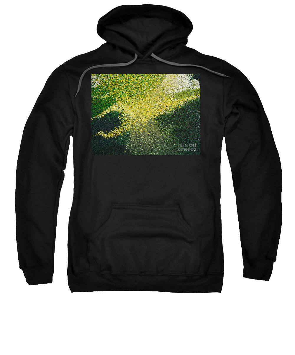 Abstract Sweatshirt featuring the painting Soft Green Light by Dean Triolo
