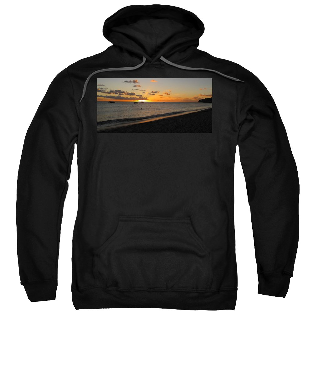 Sunset Sweatshirt featuring the photograph Soft Warm Quiet Sunset by Ian MacDonald