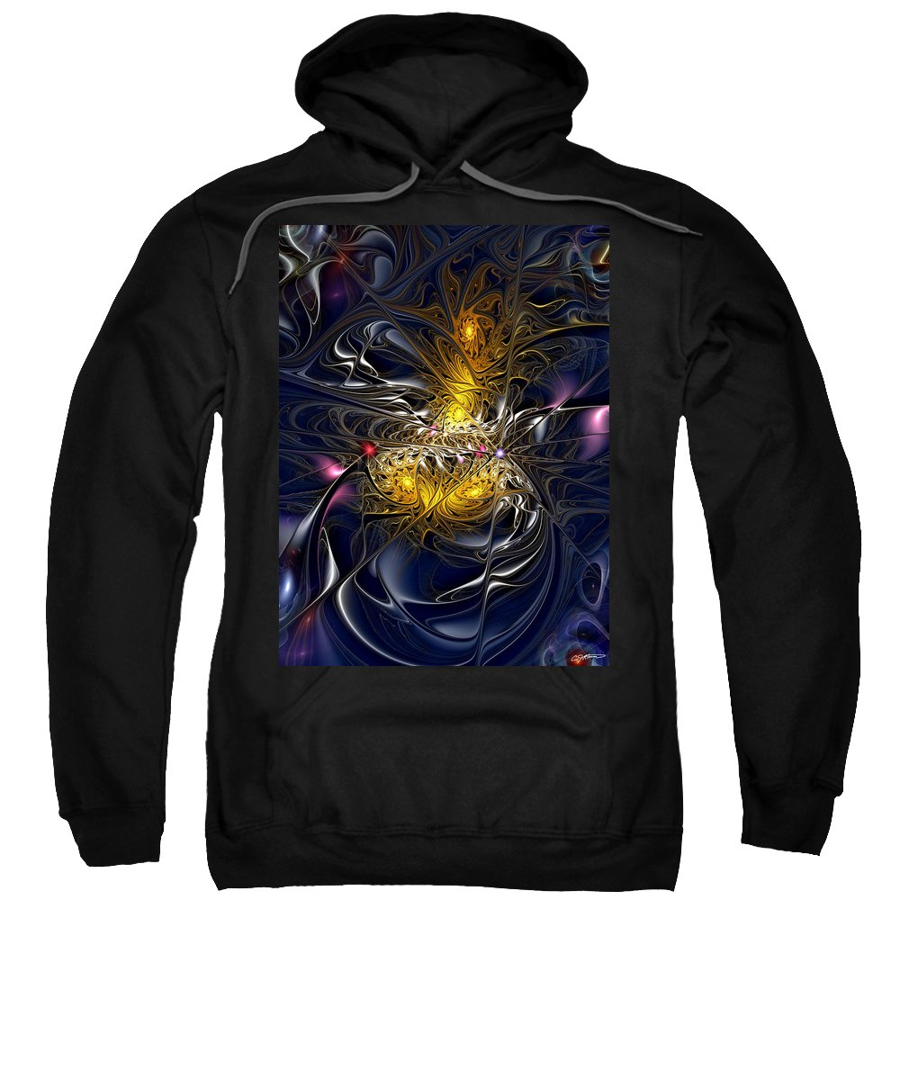 Abstract Sweatshirt featuring the digital art Solar Winds by Casey Kotas