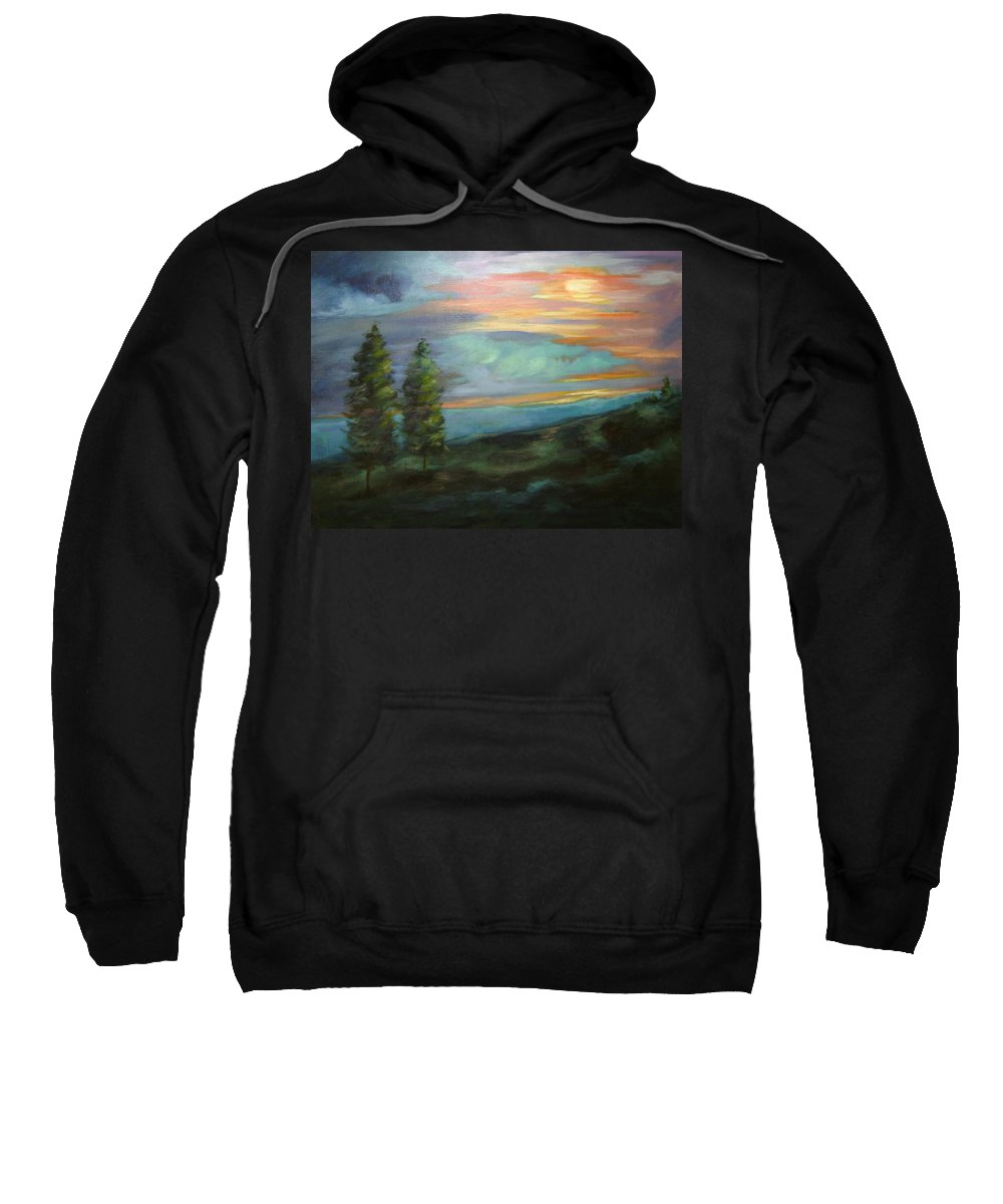 Landscape Sweatshirt featuring the painting Soledad by Ginger Concepcion