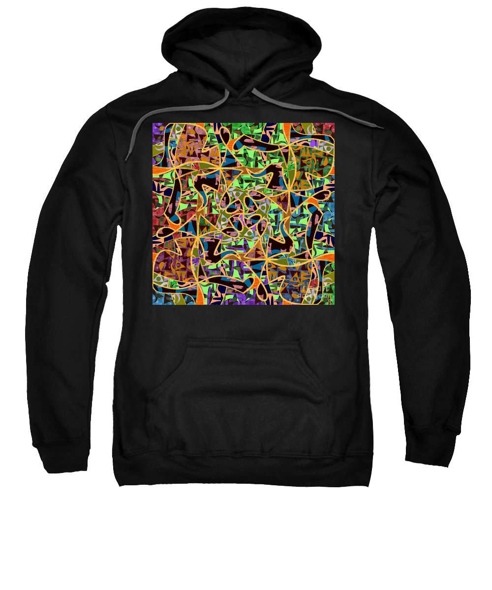 Mkatz Sweatshirt featuring the digital art Some Harmonies And Tones 59 by MKatz Brandt