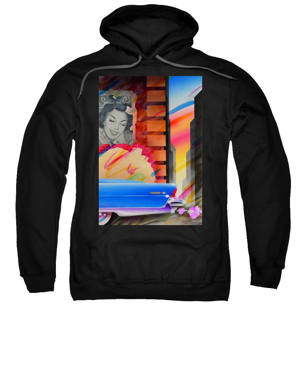 Collage Sweatshirt featuring the painting Someone You Love by Charles Stuart