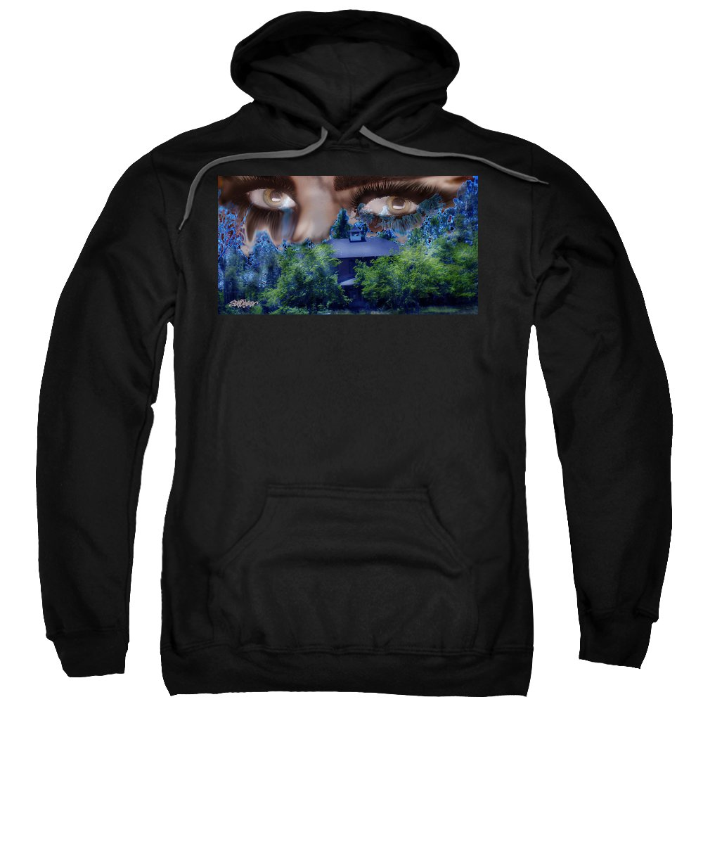 Strange House Sweatshirt featuring the digital art Something To Watch Over Me by Seth Weaver