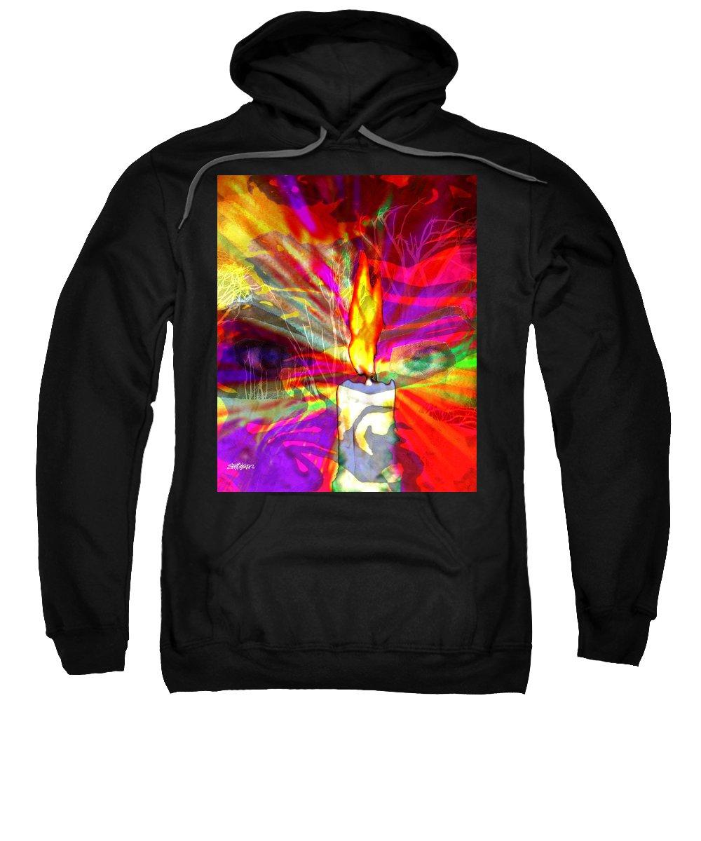 Sorcerer Sweatshirt featuring the digital art Sorcerer's Candle by Seth Weaver