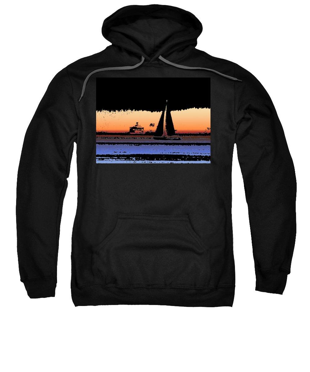 Seattle Sweatshirt featuring the photograph Sound Sailin 2 by Tim Allen