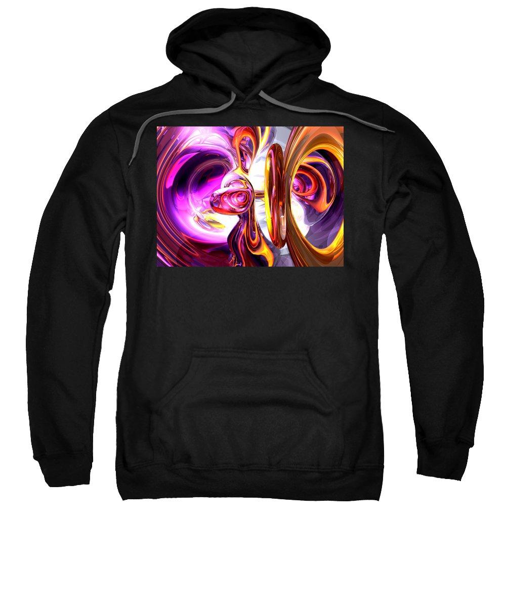 3d Sweatshirt featuring the digital art Soundwave Abstract by Alexander Butler