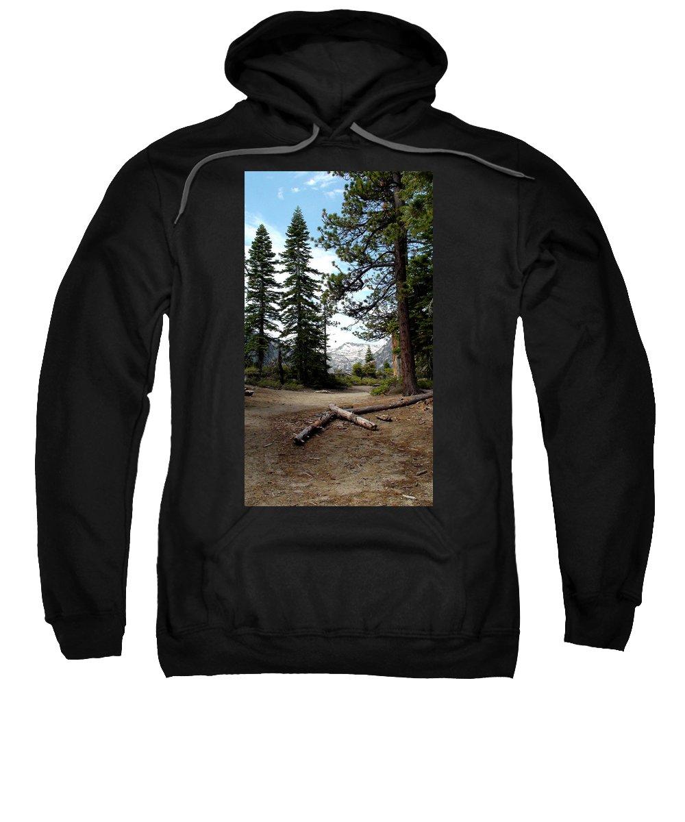 Usa Sweatshirt featuring the photograph South Lake Tahoe Mountain Trail by LeeAnn McLaneGoetz McLaneGoetzStudioLLCcom