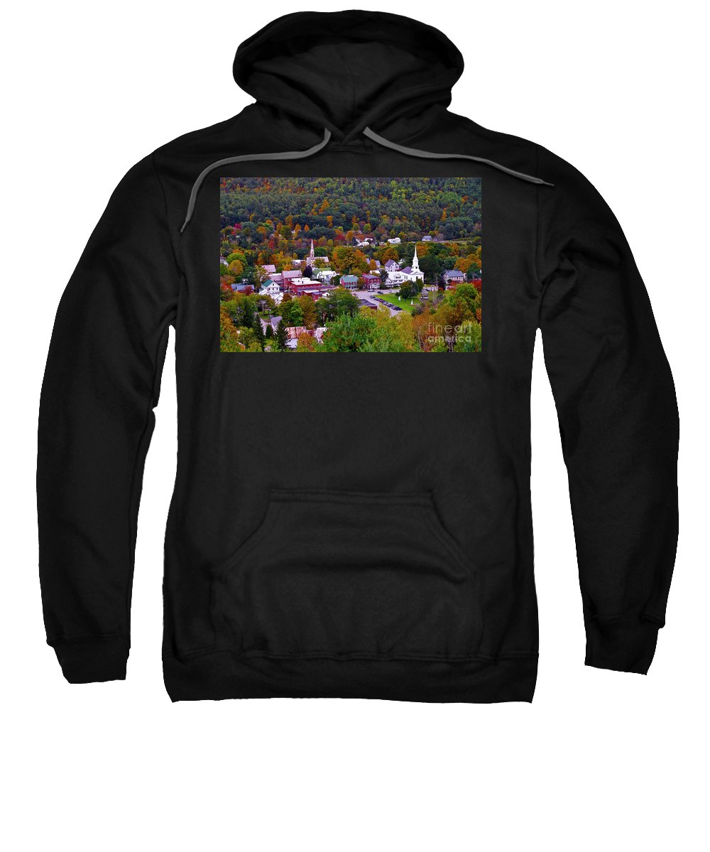 Fall Foliage Sweatshirt featuring the photograph South Royalton Vermont by Scenic Vermont Photography