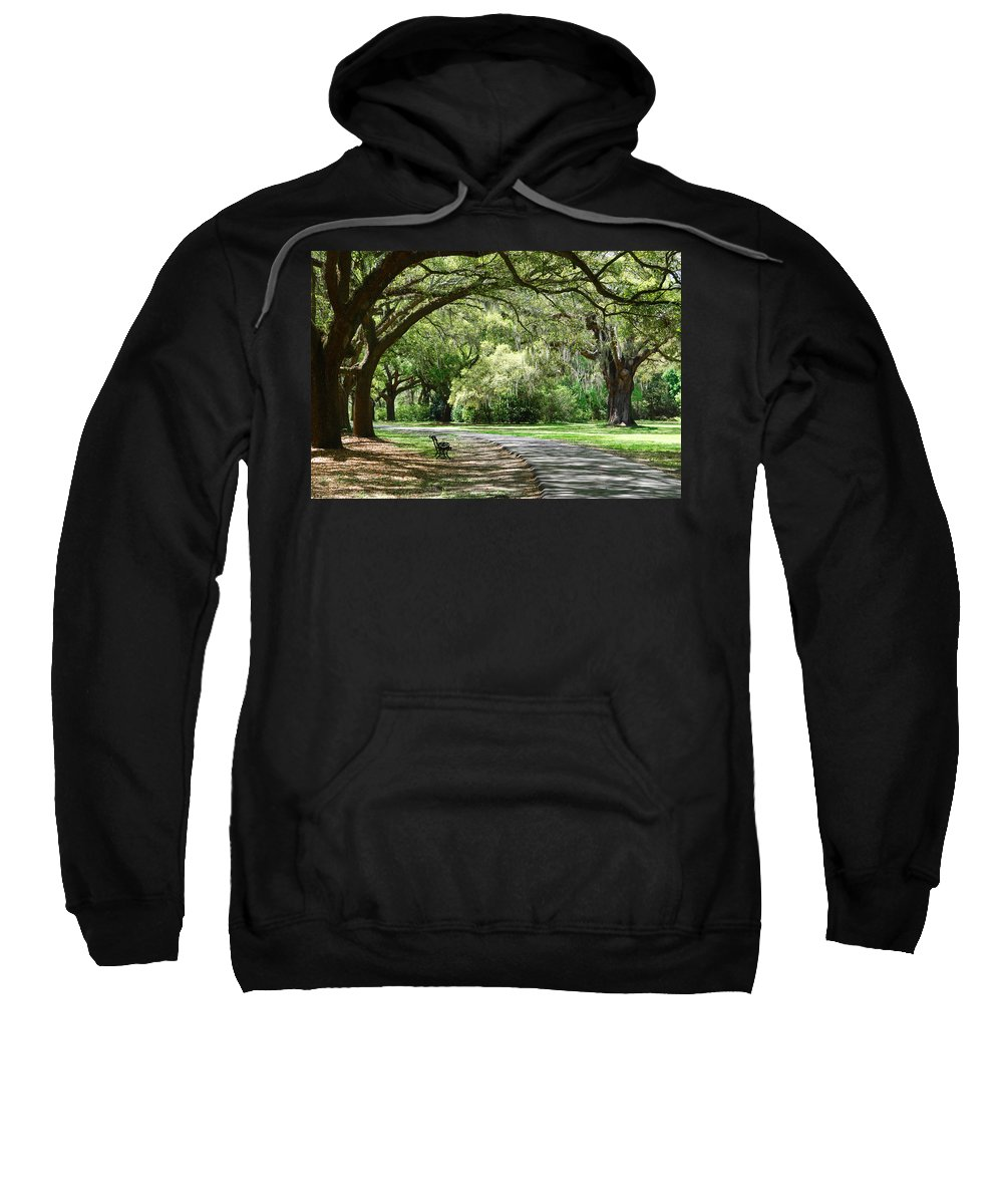 Benches Sweatshirt featuring the photograph Southern Bench by Susanne Van Hulst