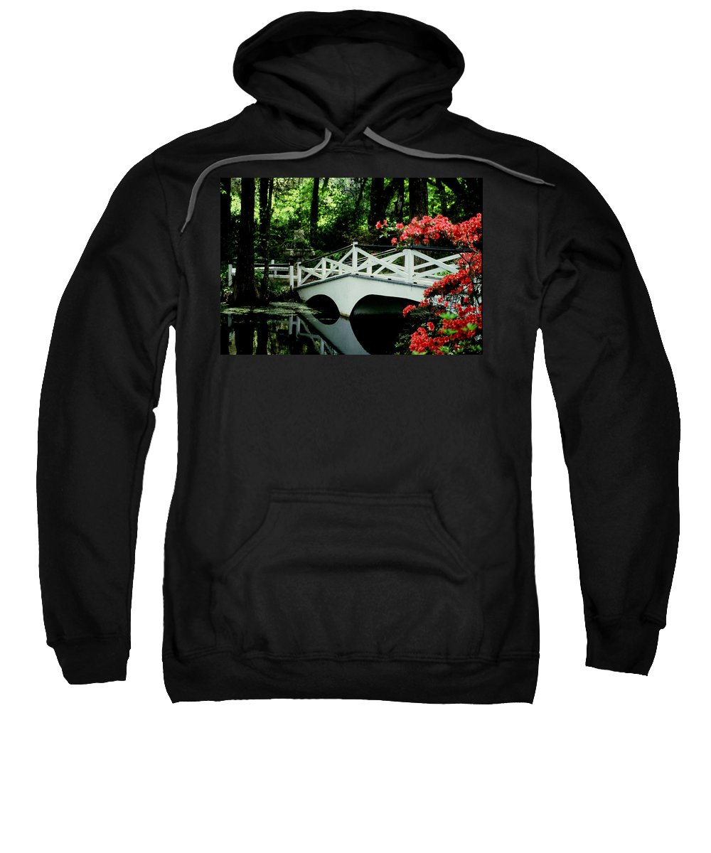 White Bridge Sweatshirt featuring the photograph Southern Splendor by Gary Wonning