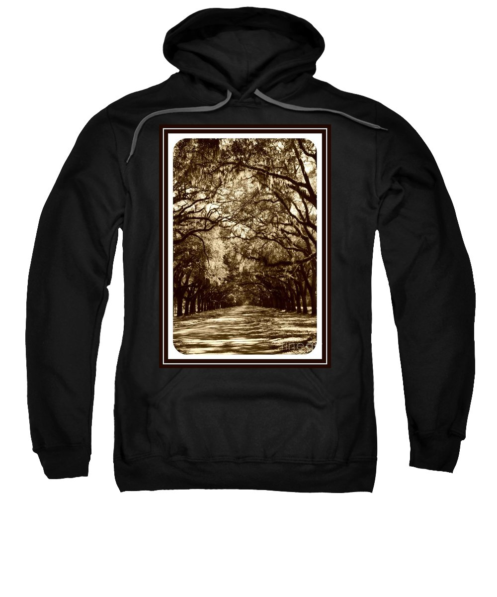 Brown Sweatshirt featuring the photograph Southern Welcome In Sepia by Carol Groenen