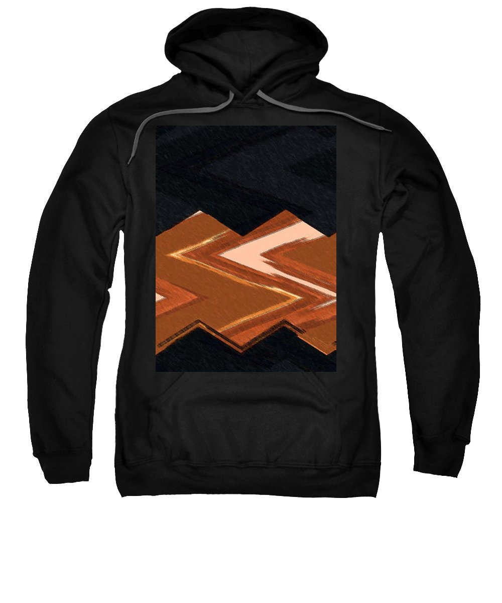 Abstract Sweatshirt featuring the digital art Southwest Abstract by Lenore Senior