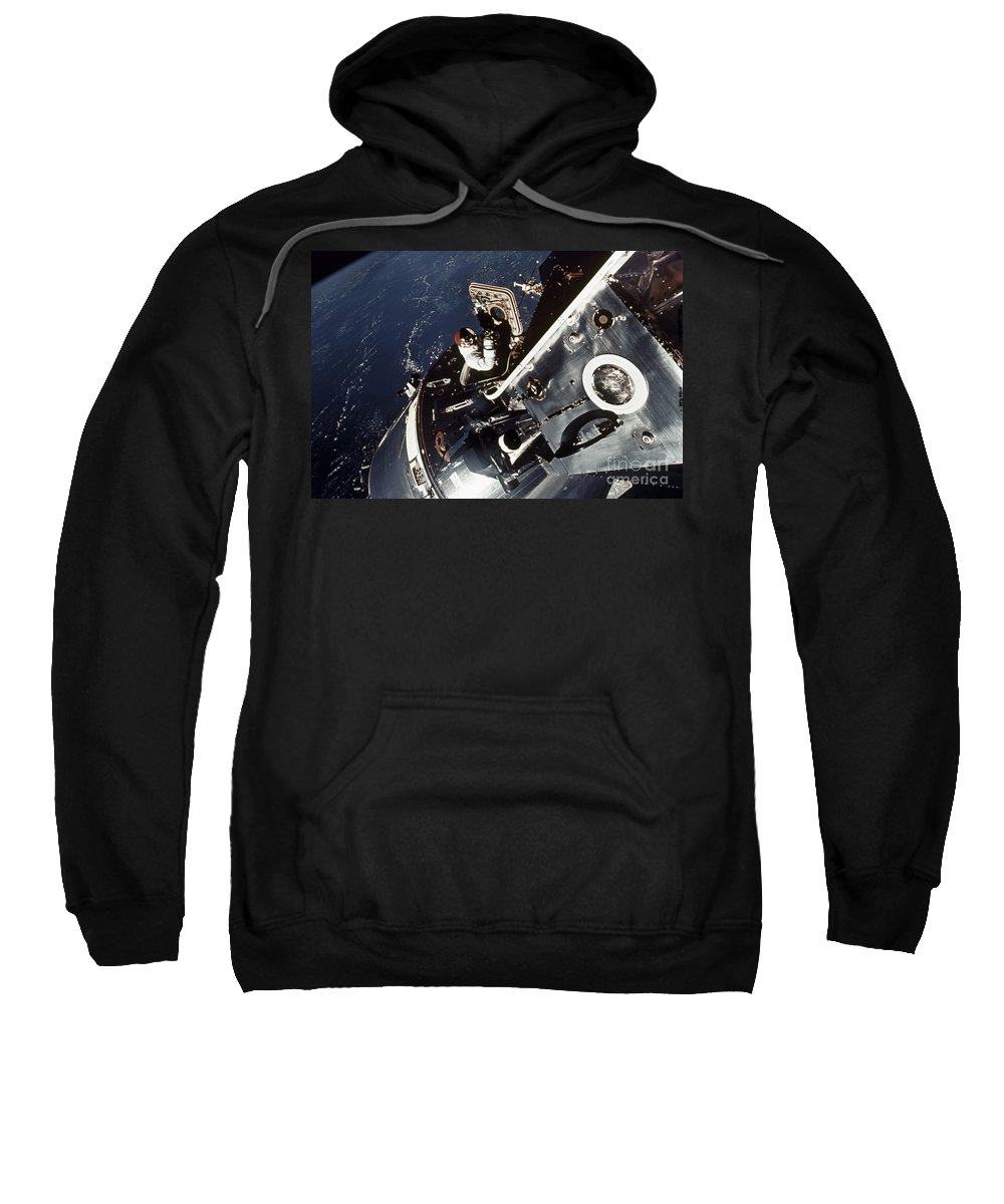 1969 Sweatshirt featuring the photograph Space: Apollo 9 by Granger