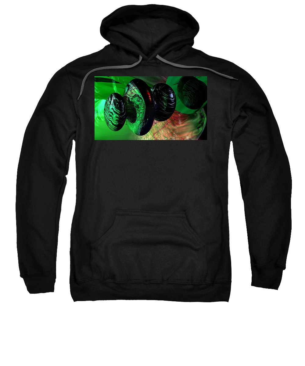 Space Art Sweatshirt featuring the digital art Space Reflections by David Lane