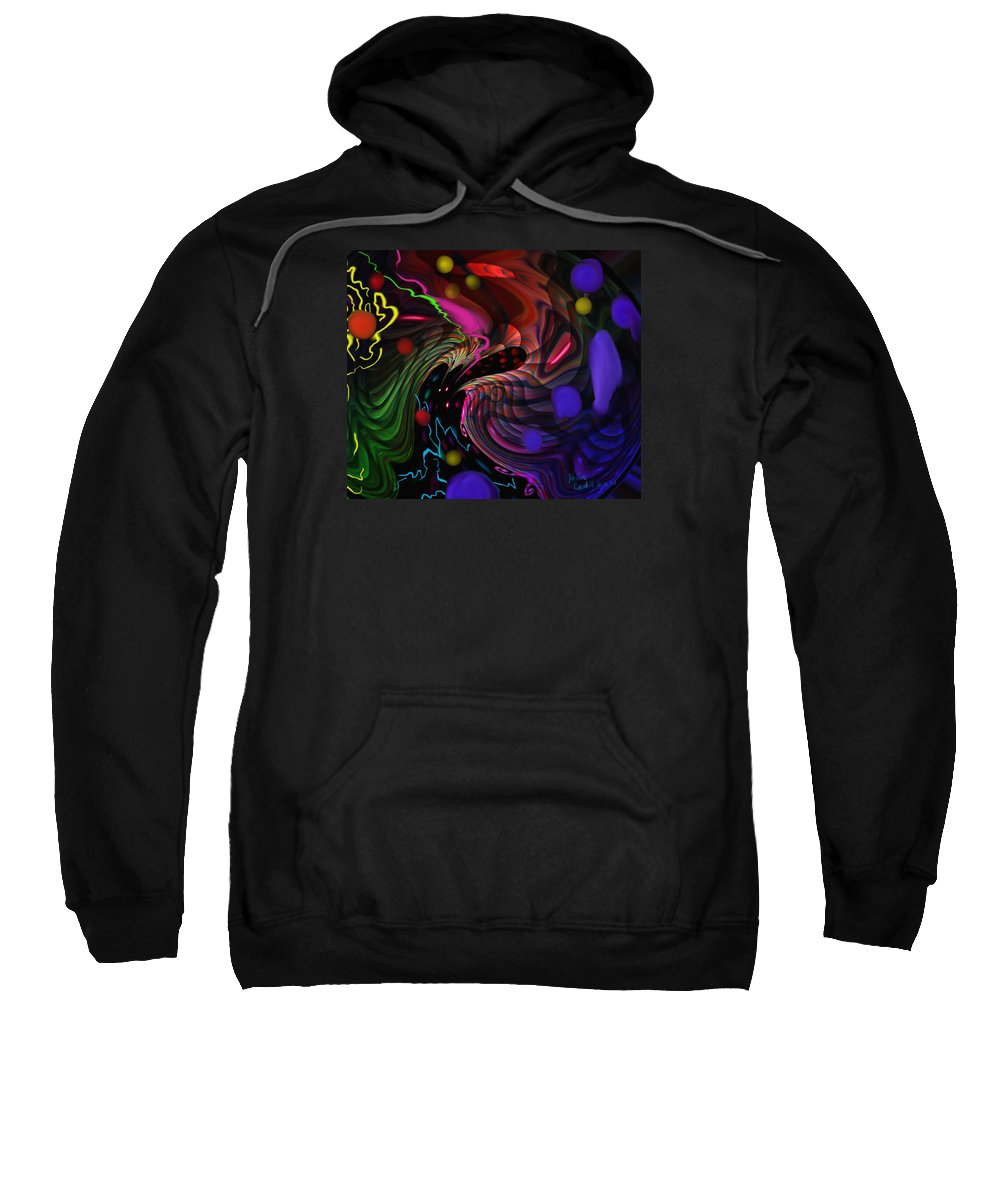 Outer Space Sweatshirt featuring the painting Space Rocks by Kevin Caudill