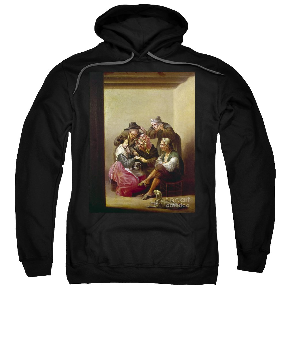 19th Century Sweatshirt featuring the photograph Spain: Palm-reading by Granger