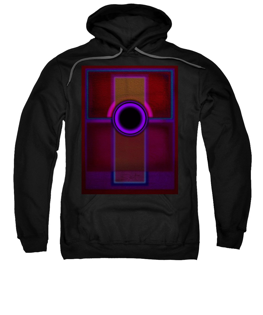 Portal Sweatshirt featuring the painting Speaker by Charles Stuart