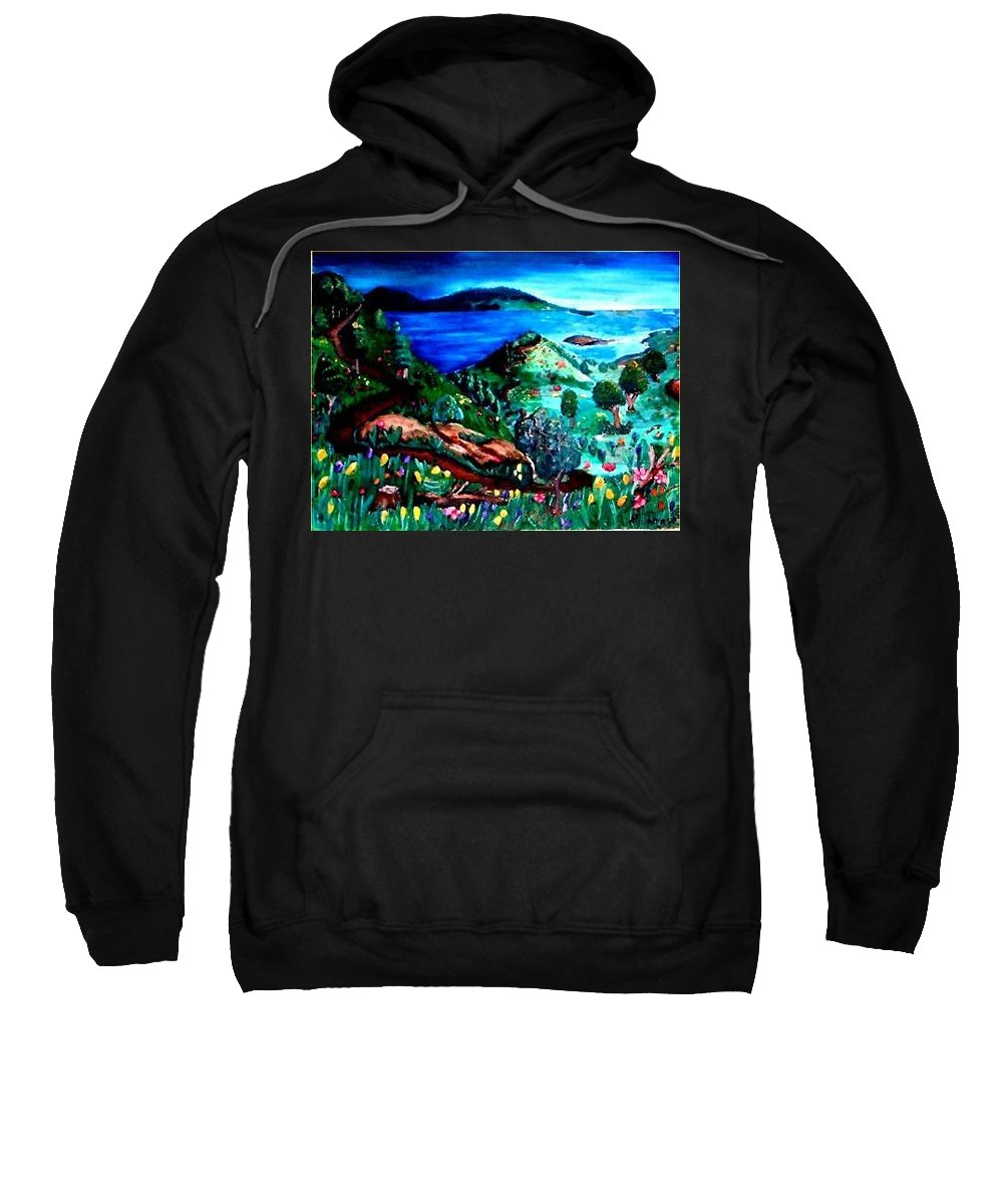 Landscape Sweatshirt featuring the painting Special Land by Andrew Johnson