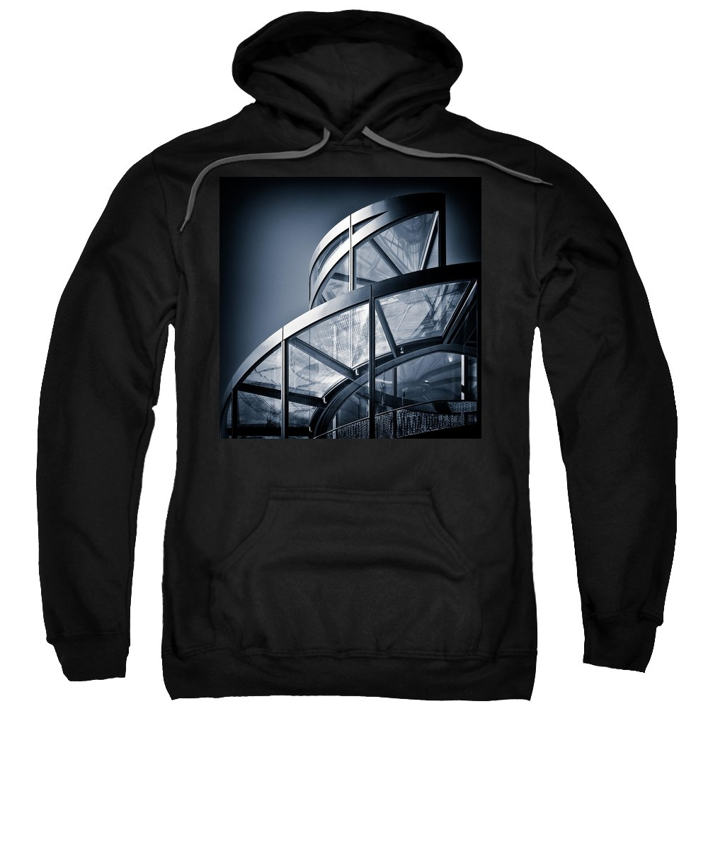 Spiral Sweatshirt featuring the photograph Spiral Staircase by Dave Bowman