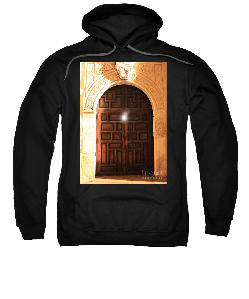 Alamo Sweatshirt featuring the photograph Spirit Of The Alamo by Carol Groenen
