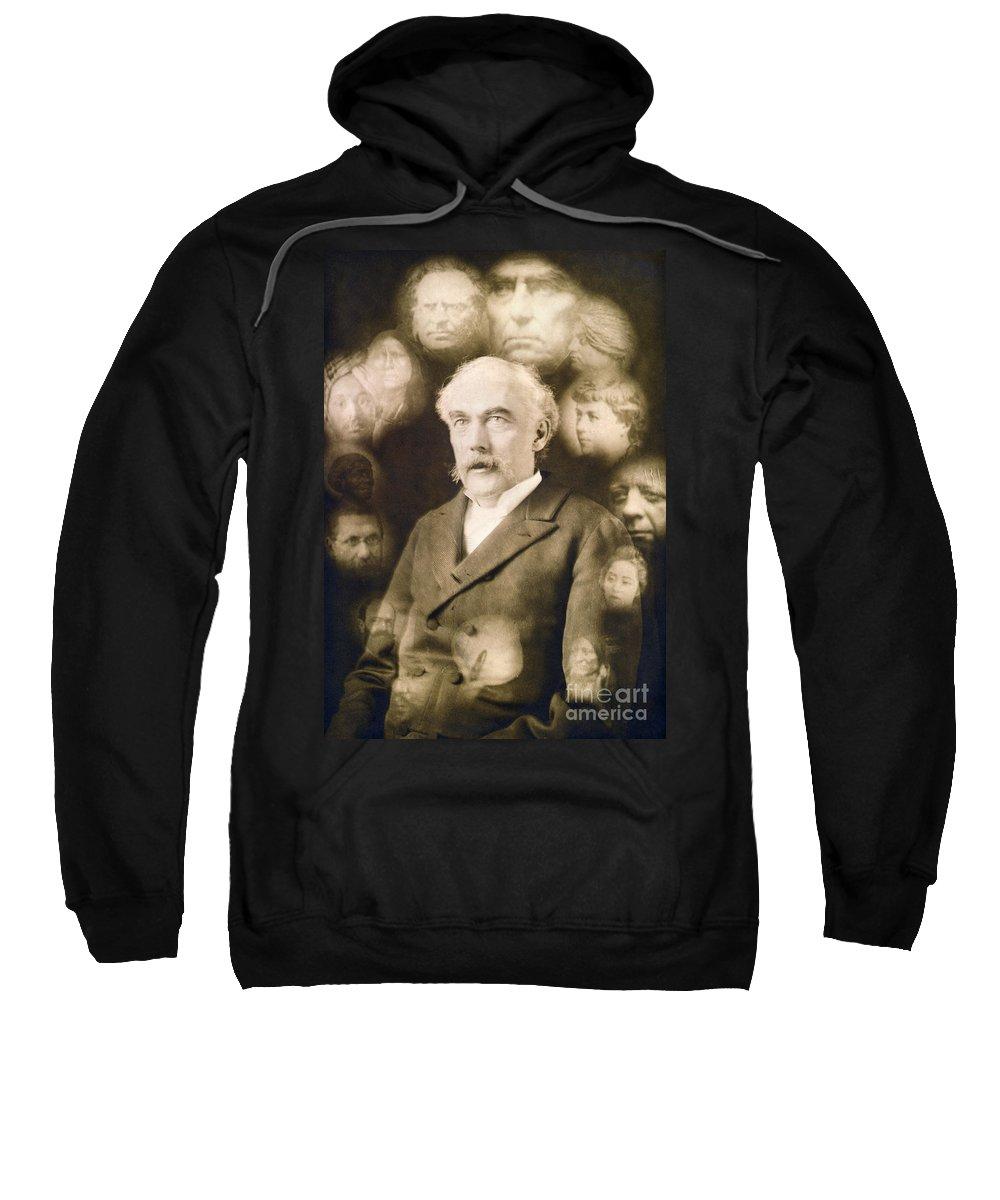 1901 Sweatshirt featuring the photograph Spirit Photograph, C1901 by Granger