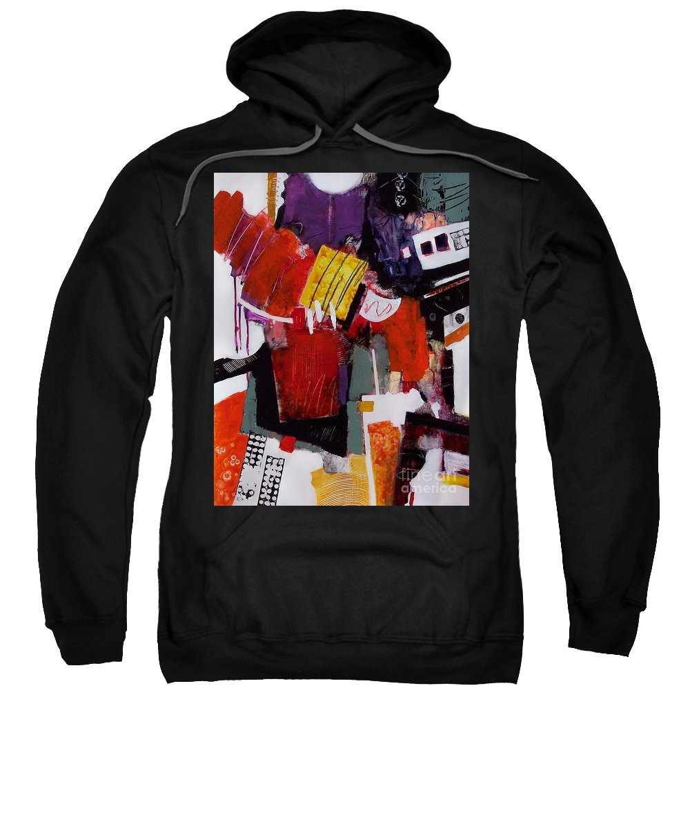 Abstract Sweatshirt featuring the painting Spirit Serenade by Donna Frost