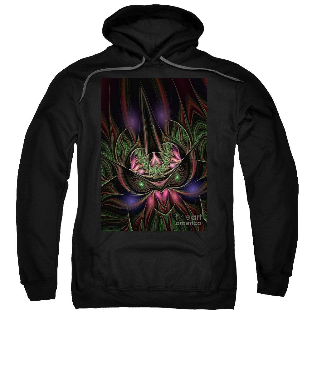 Spiritual Mask Sweatshirt featuring the digital art Spiritual Mask by Deborah Benoit