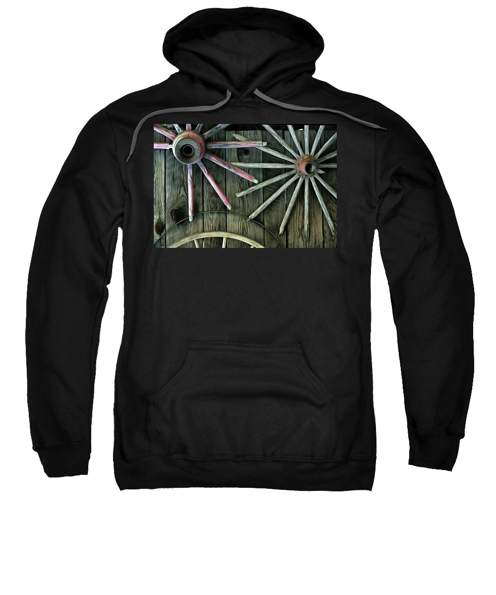 Wheels Sweatshirt featuring the photograph Spokes by Robert Brown