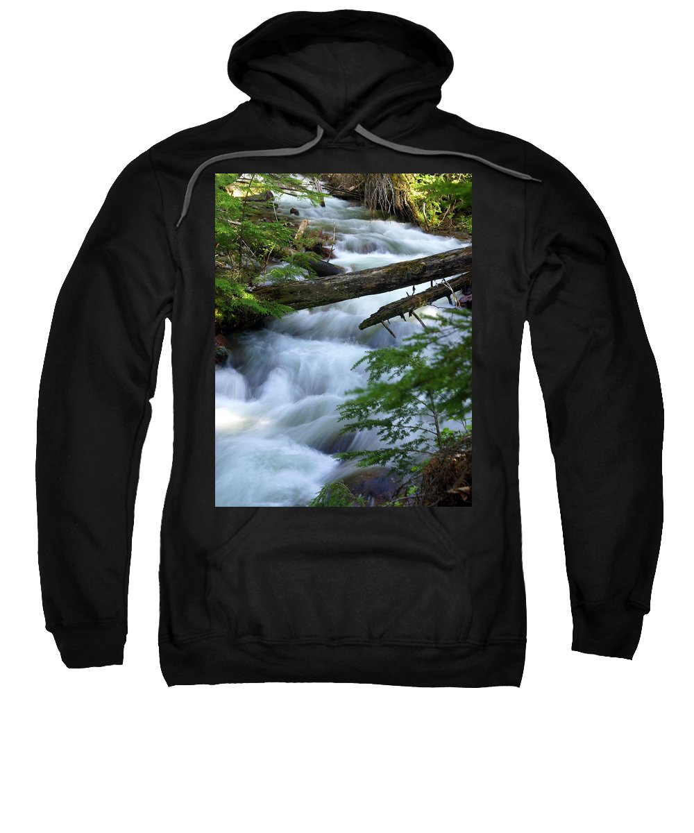 Glacier National Park Sweatshirt featuring the photograph Sprague Creek Glacier National Park by Marty Koch
