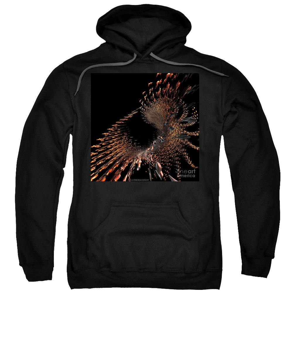 Incendia Sweatshirt featuring the digital art Spray Of Gold by Deborah Benoit