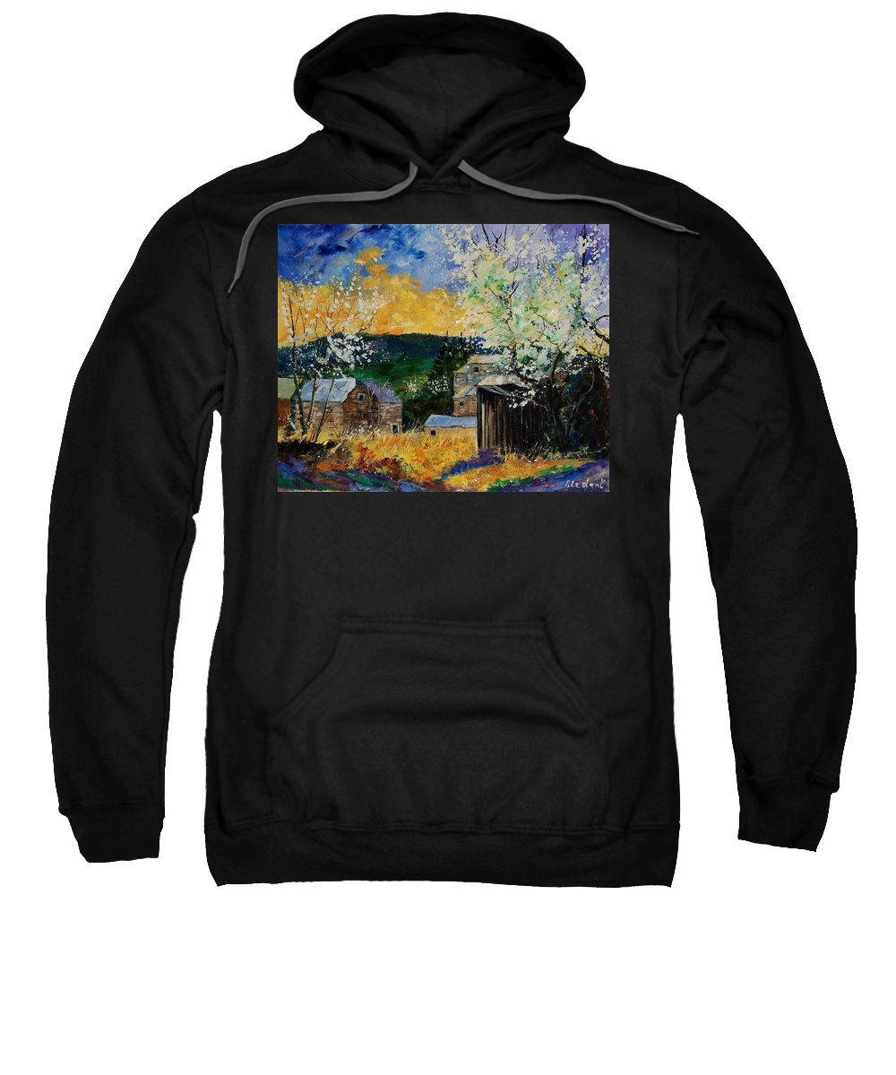 Spring Sweatshirt featuring the painting Spring 45 by Pol Ledent