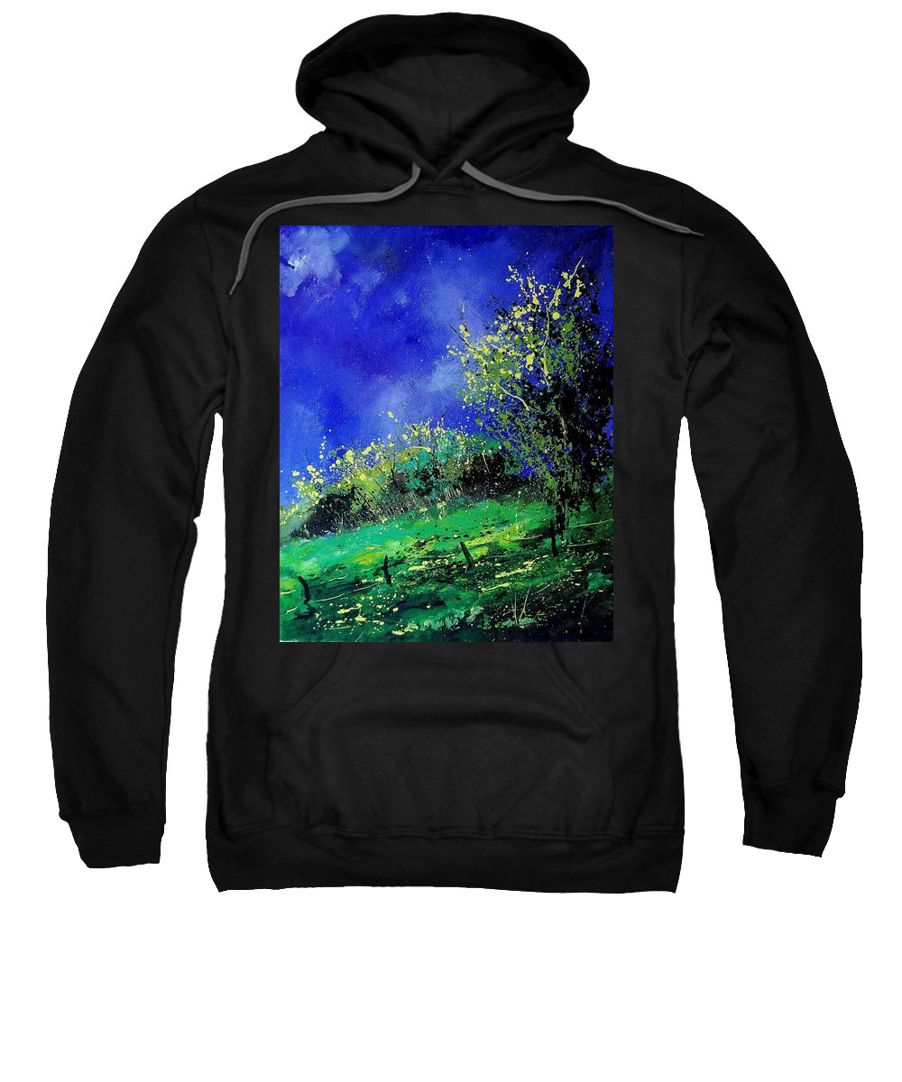Spring Sweatshirt featuring the painting Spring 459060 by Pol Ledent