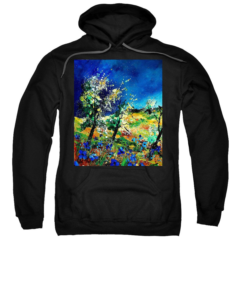 Tree Sweatshirt featuring the painting Spring 56 by Pol Ledent