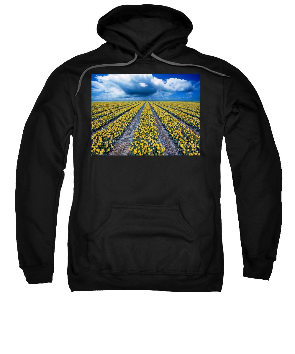 Flowers Sweatshirt featuring the photograph Spring Fields by Jacky Gerritsen