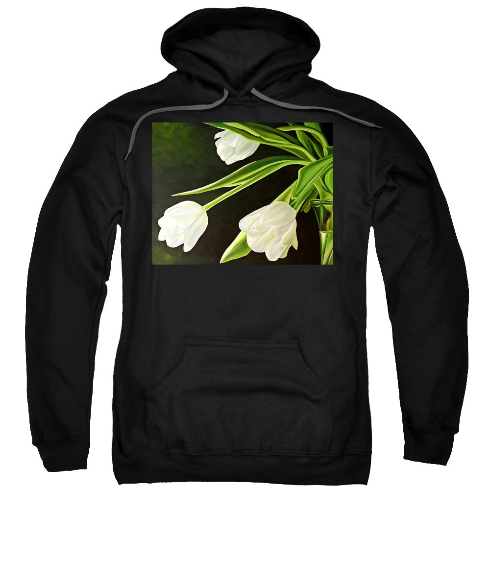Tulips Sweatshirt featuring the painting Spring Tulips by Toni Grote