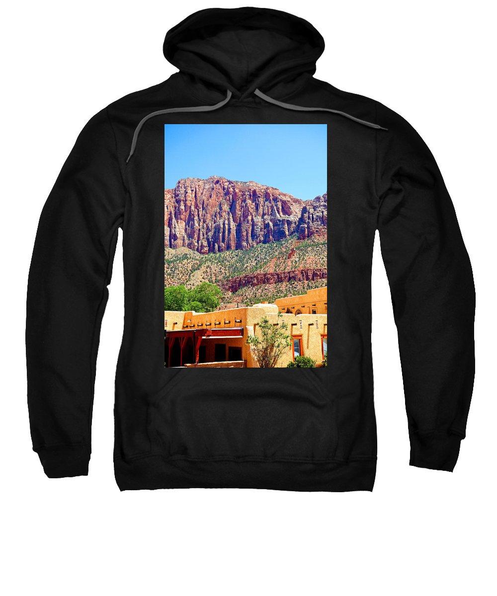 Springdale Sweatshirt featuring the photograph Springdale View by Robert Meyers-Lussier
