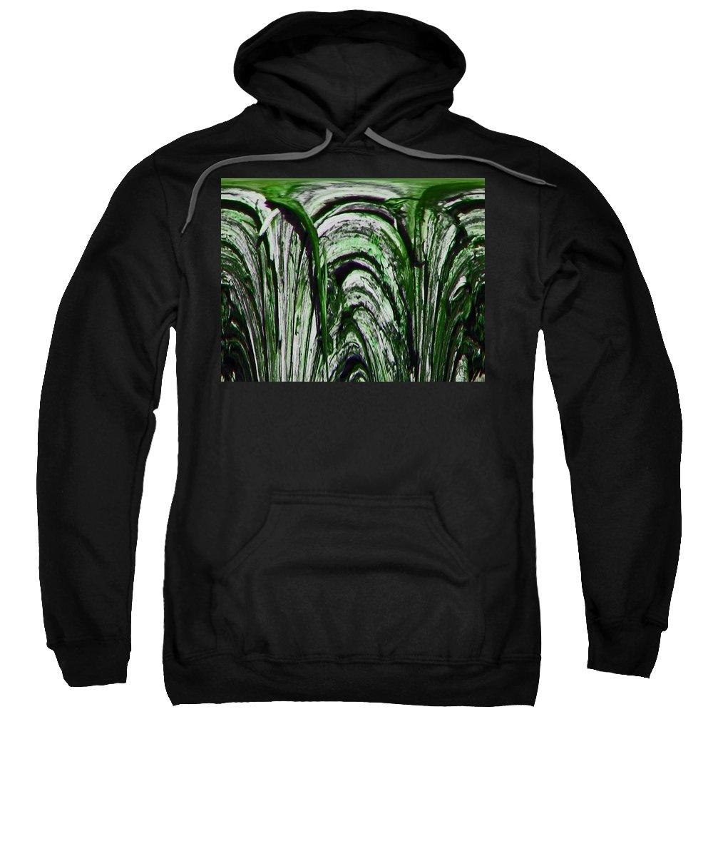 Abstract Sweatshirt featuring the digital art Sprinklers by Lenore Senior