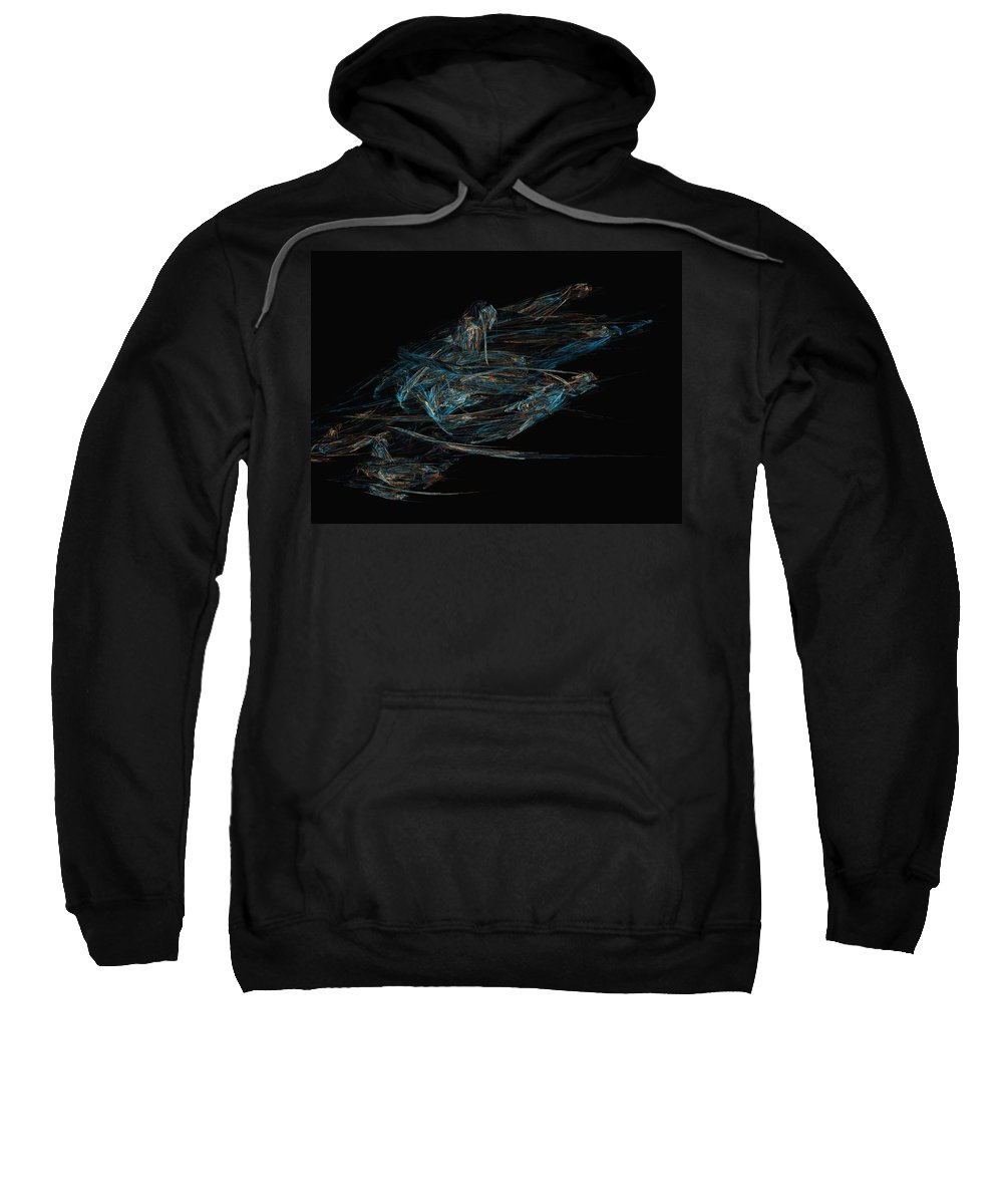 Abstract Digital Painting Sweatshirt featuring the digital art Sprint by David Lane