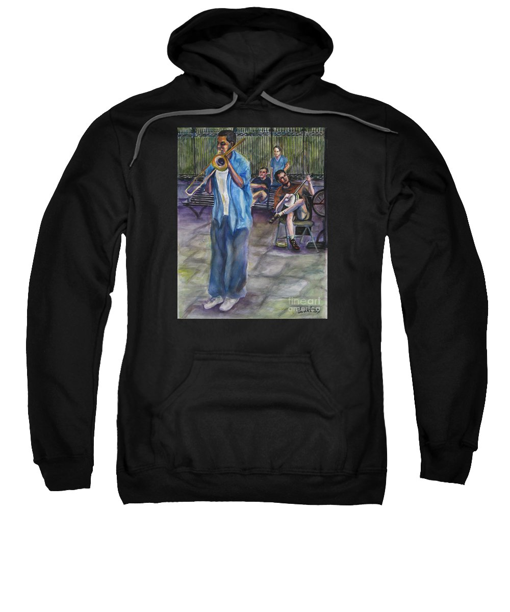 New Orleans Sweatshirt featuring the painting Square Slide by Beverly Boulet