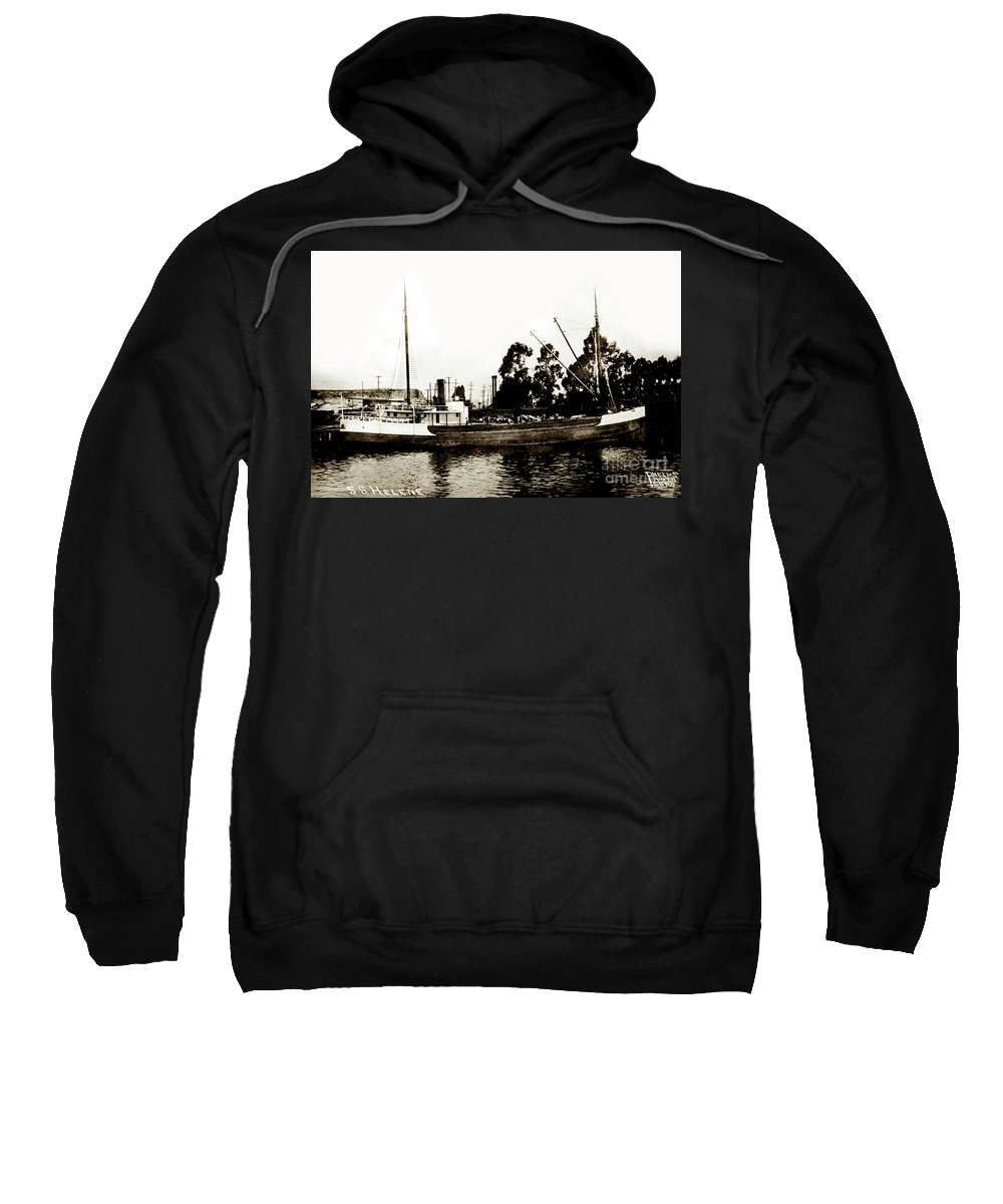 Steam Schooner Sweatshirt featuring the photograph Steam Schooner Helene At San Padero by California Views Archives Mr Pat Hathaway Archives