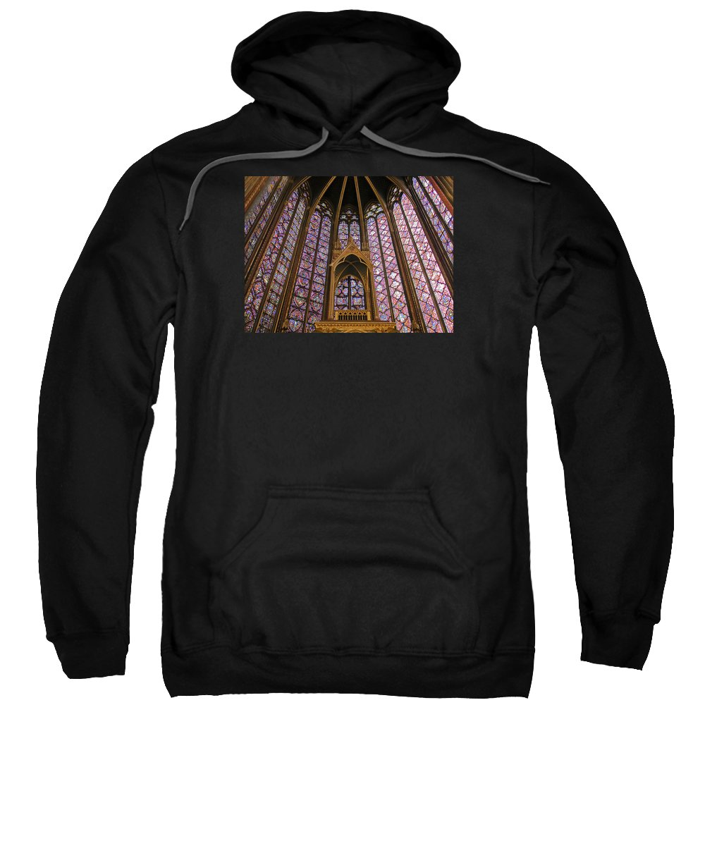France Sweatshirt featuring the photograph St Chapelle Paris by Alan Toepfer