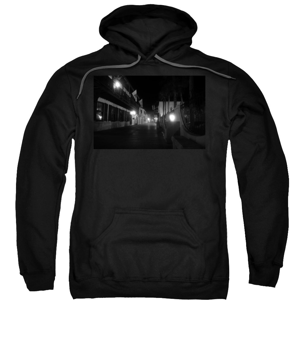 St. Augustine Florida Sweatshirt featuring the photograph St. George Street Ghosts by David Lee Thompson
