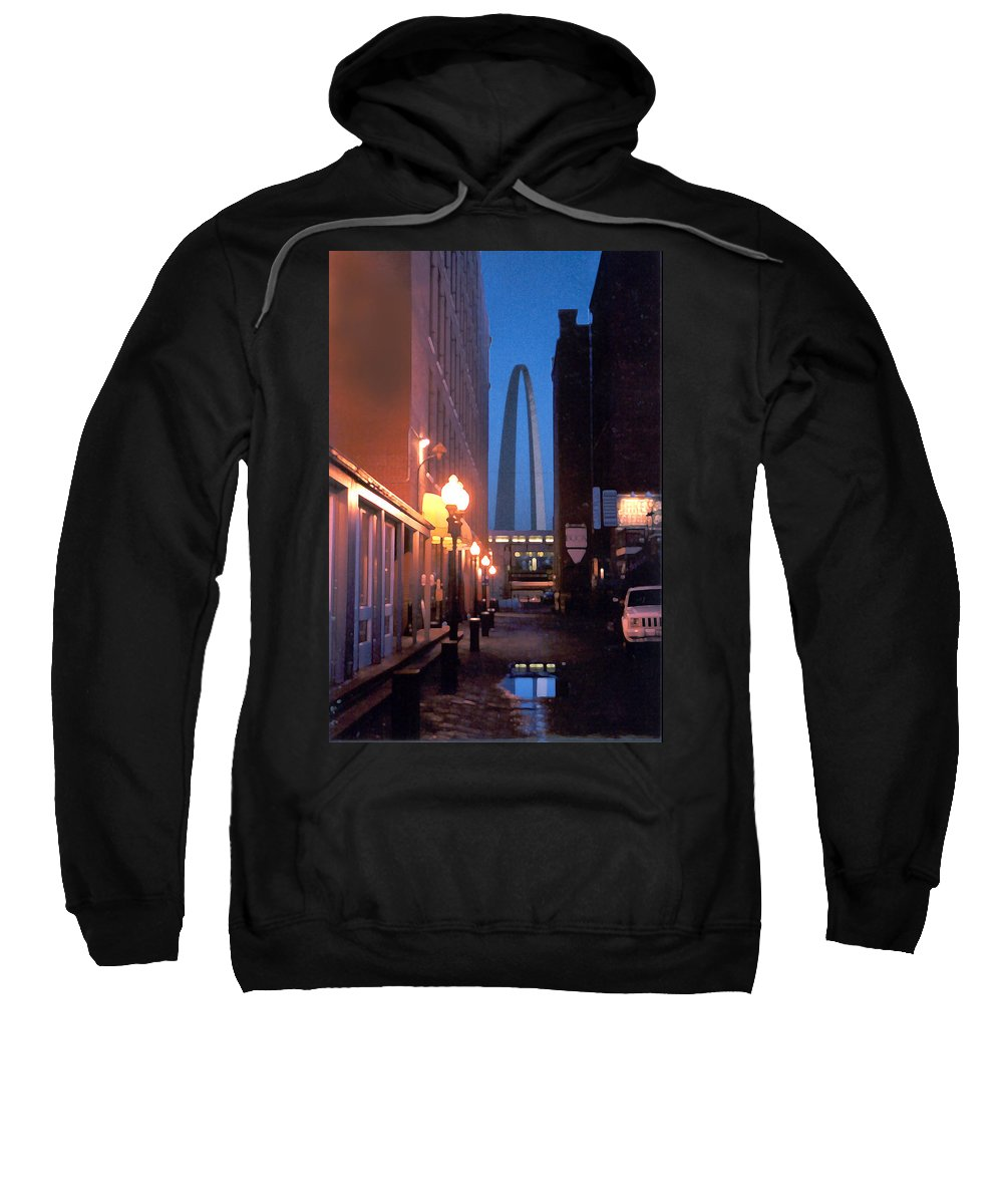 St. Louis Sweatshirt featuring the photograph St. Louis Arch by Steve Karol