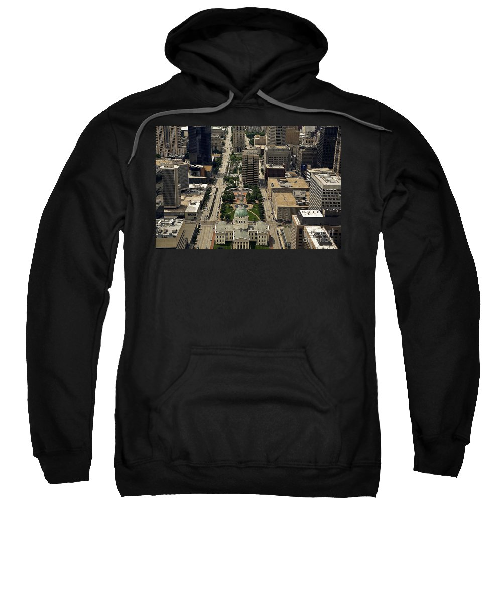 St. Louis Overview Sweatshirt featuring the photograph St. Louis Overview by Madeline Ellis