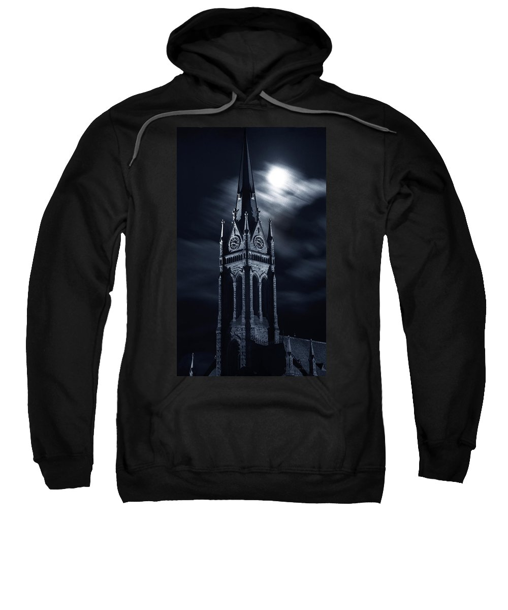 Church Sweatshirt featuring the photograph St Nicholas Church Wilkes Barre Pennsylvania by Arthur Miller
