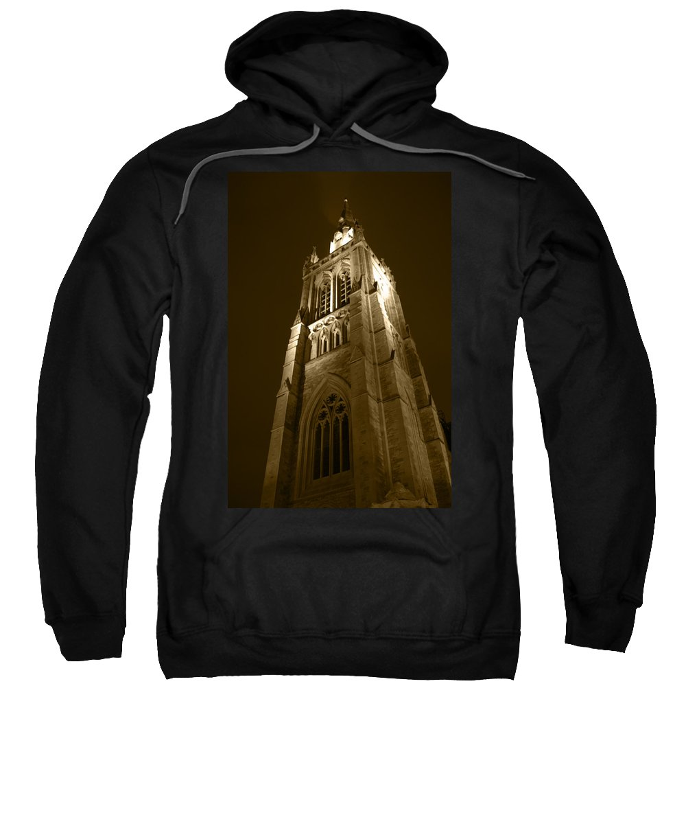 St Peter Sweatshirt featuring the photograph St Peter's Church Bournemouth by Chris Day