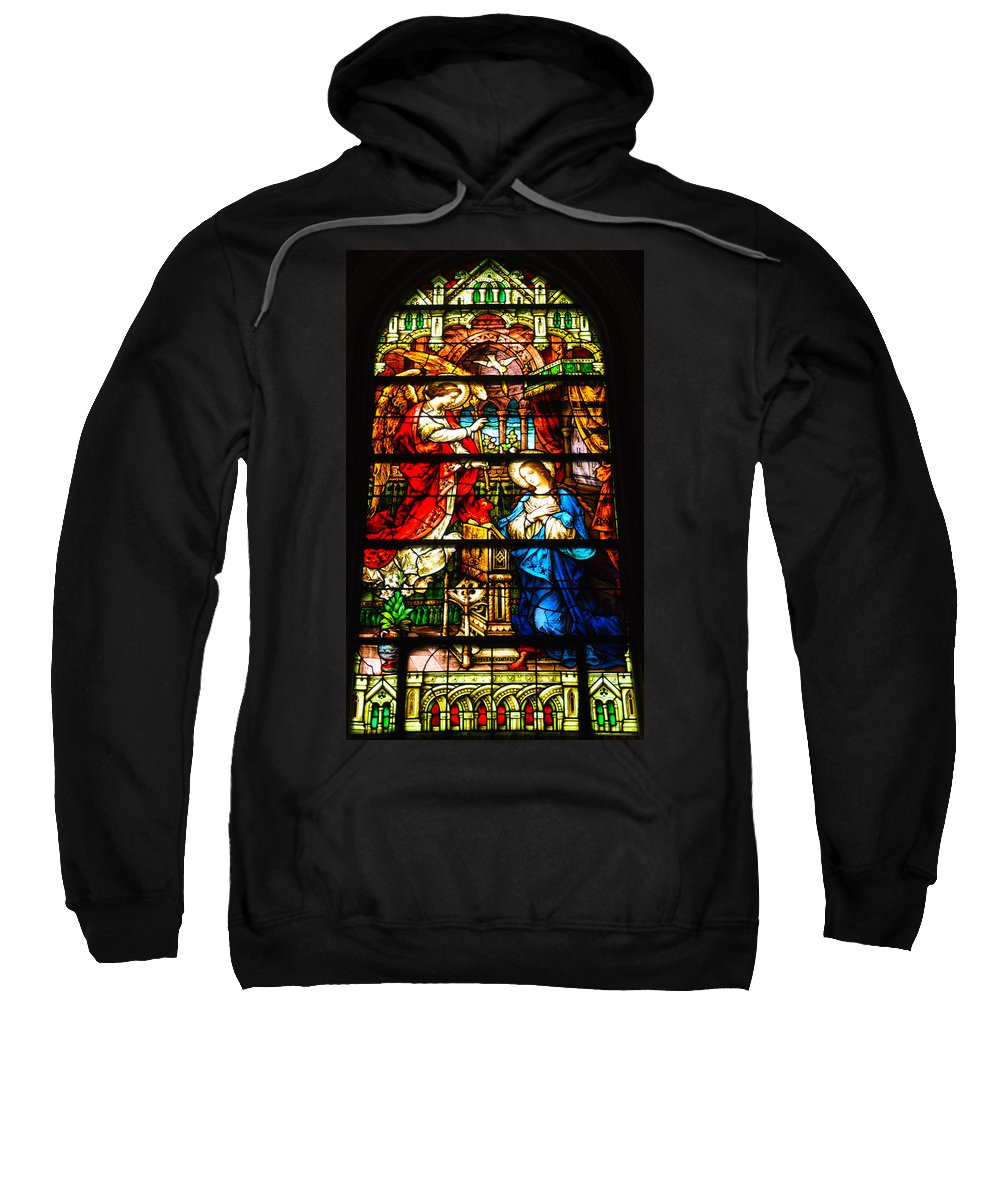 Cape May Sweatshirt featuring the photograph Stained Glass - Cape May by Bill Cannon