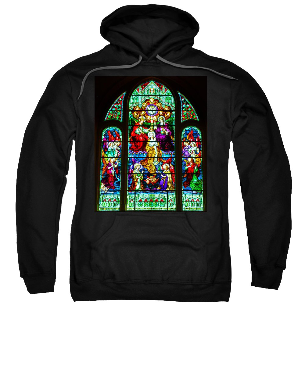 Cape May Sweatshirt featuring the photograph Stained Glass by Bill Cannon