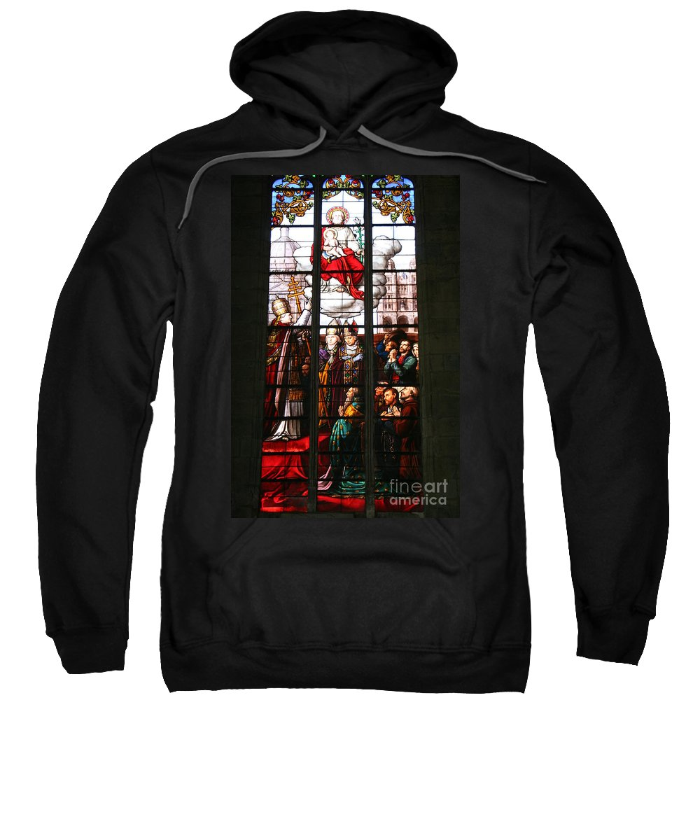 Window Sweatshirt featuring the photograph Stained Glass Window Vi by Christiane Schulze Art And Photography